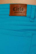 Shawty a Ten Aqua Blue Cutoff Shorts