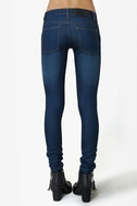 Cheap Monday Zip Low Medium Wash Skinny Jeans