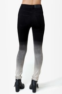 Cheap Monday Second Skin Black Ombre High-Waisted Skinny Jeans