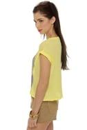 Chaser Blondie Rapture Yellow Crop Top