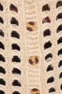 Honey Wheat Waffles Beige Cardigan Sweater