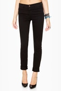 Dittos Dawn Mid Rise Black Skinny Jeans