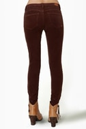 Dittos Jessica Mid-Rise Chocolate Brown Corduroy Pants