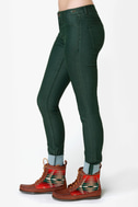 Dittos Jessica Mid-Rise Hunter Green Jeggings