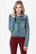 Dittos Sabrina Medium Wash Denim Jacket