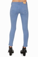 Level 99 Summer Janice Ultra Skinny Cropped Blue Jeggings