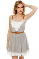 Gold Dust Woman Light Grey Dress
