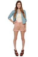Maharani Blush Embroidered Shorts