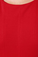 What It Seams Sleeveless Red Dress