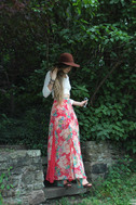Mary Ann or Ginger? Floral Print Maxi Skirt