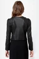 If Looks Could Kill Black Vegan Leather Jacket