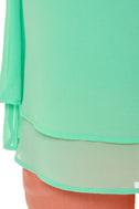 Scalloped Ticket Mint Green Top