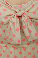 Grand Dotter Beige Polka Dot Dress