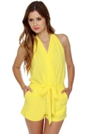 Just Playin\\\' Yellow Romper