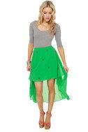 Star Power Green Print Skirt