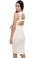 Vixen Mixer Midi White Dress