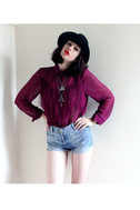 Fringe Countryside Magenta Button-Up Top
