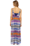 Weather Patterns Purple Print Silk Maxi Dress