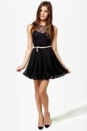 Bubble Duty Black Lace Dress