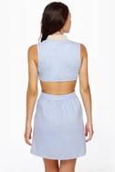 Pearly Girl Chambray Cutout Dress