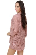 English Estates Lace Pink Blazer