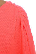 Leaves of Sass Neon Coral Dress