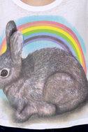 Local Celebrity Rainbow Bunny Muscle Tee