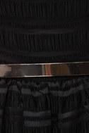 Flapper Keeper Backless Black Dress