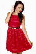 Flapper Keeper Backless Red Dress