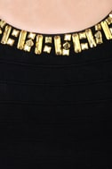 Bits of Glitz Studded Black Dress