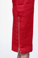Drawstring Section Cropped Red Jacket