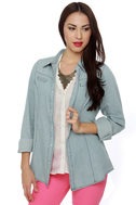 Urban Cowgirl Chambray Button-Up Top