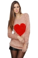 Bless Your Heart Blush Pink Sweater