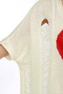 Heart-y Har Har Ivory Sweater Top