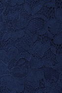 Tulle Short-Listed Navy Blue Lace Shorts