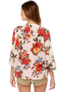 Tulle May Flowers Floral Print Top