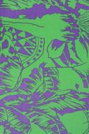 Motel Rowena Purple and Lime Green Print Dress