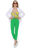 Motel Jodie High-Waisted Green Skinny Jeans