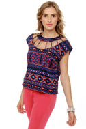 Dream-Cager Blue Print Top