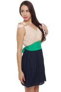 On a Whim Blue Color Block Dress