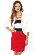 Ferry Tales Strapless Color Block Dress