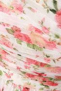 At Glitz End One Shoulder Floral Print Dress