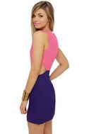 Ultra-Lounge Cutout Color Block Dress