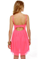 Glow Stick Shift Neon Pink Dress