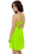 Glow Stick Shift Neon Yellow Dress