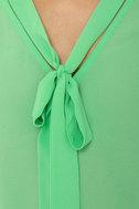 Sleeveless in Seattle Sheer Mint Green Top