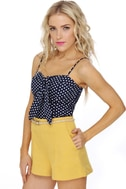Seafaring Well Navy Blue Bustier Top