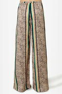 Road to Morocco Striped Wide-Leg Pants