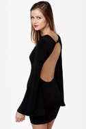 One Rad Girl Natalia Backless Black Dress