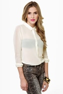 Olive & Oak Sonny and Sheer Cream Top